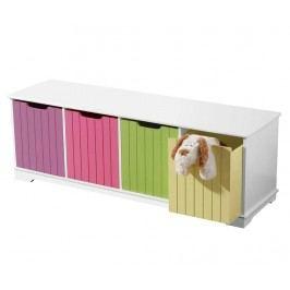 Dětská lavička s 4 košíky Colors