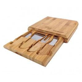 Sada 4 nožů na sýry a prkénko Gravyer