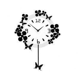 Nástěnné hodiny s kyvadlem Sublime Butterflies