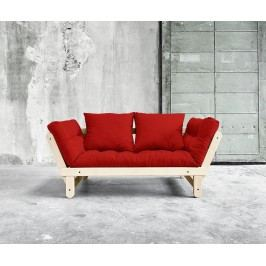 Rozkládací pohovka Beat Natural & Red 75x200 cm