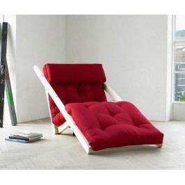 Rozkládací lehatko do obývačky Figo Raw & Bordeaux 70x200 cm