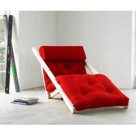 Rozkládací lehatko do obývačky Figo Raw & Red 70x200 cm