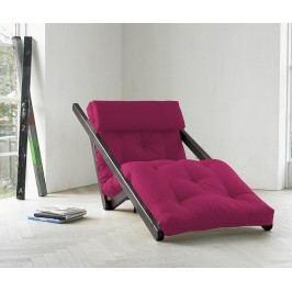 Rozkládací lehatko do obývačky Figo Wenge & Pink