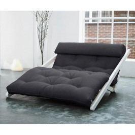 Rozkládací lehatko do obývačky Figo White & Grey 120x200 cm