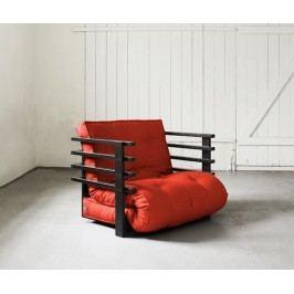 Rozkládací křeslo Funk Black & Red 80x190 cm
