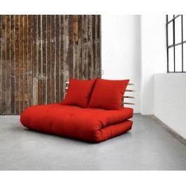 Rozkládací pohovka Sano Natural & Red 140x200 cm
