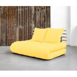 Rozkládací pohovka Shin Sano Natural and Yellow