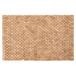Dřevěná koupelnová předložka Sonia Natural 45x70 cm