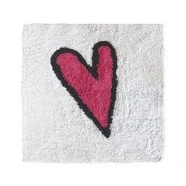 Koupelnová předložka Heart on White 55x55 cm