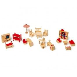 Sada 22 kusů nábytku pro panenky Ladybug