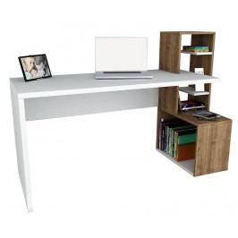 Pracovní stůl Melvin White Walnut