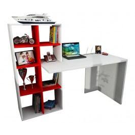 Pracovní stůl Crosby White Red
