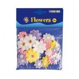 Sada 36 textilních dekorací Flowers