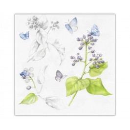 Sada 20 ubrousků Blueberry Butterflies