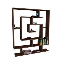Knihovna Maze Dark Brown