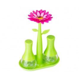 Sada solnička a pepřenka s podstavcem Flower Power