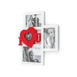 Rám na 4 fotografie I Love You