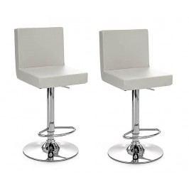 Sada 2 barových židlí Confort White