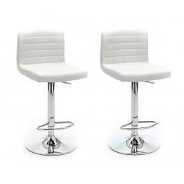 Sada 2 barových židlí Hydra White