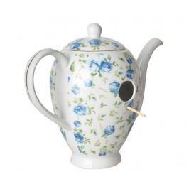 Domeček pro ptáčky Coffeepot Blue Roses