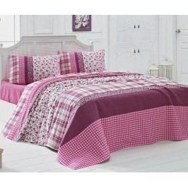 Přehoz Pique Cute Patterns Pink 160x230 cm