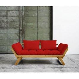 Rozkládací pohovka Bebop Honey & Red 75x200 cm