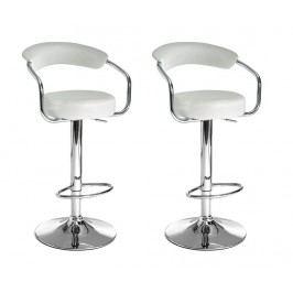 Sada 2 barových židlí Crux White