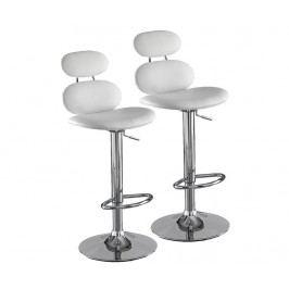 Sada 2 barových židlí Cetus White
