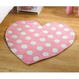 Koberec Polka Heart 90x90 cm