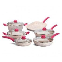 Sada nádob na vaření, 10 dílů Stonerose Fuchsia