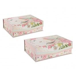 Sada 2 krabic s víkem Fairtytale Birds