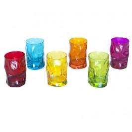 Sada 6 sklenic Sorgente Multicolor 300 ml