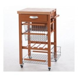 Rozkládací kuchyňský vozík Gastone Brown
