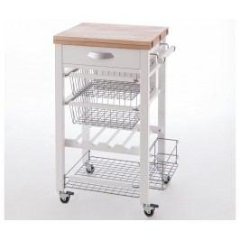 Rozkládací kuchyňský vozík Gastone Off White