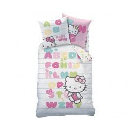 Ložní povlečení Single Ranforce Hello Kitty Abecedaire