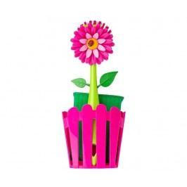 Sada 3 kuchyňských dílů Flower Power Fence Pink