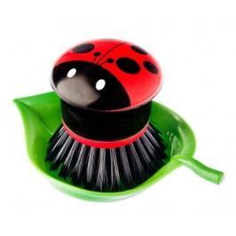 Kartáč na nádobí s podstavcem Ladybug