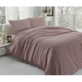 Přehoz přes postel Pique Vulsky Dusty Rose 220x240 cm