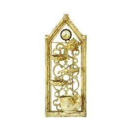Dekorační nástěnná fontána s hodinami Golden Hour