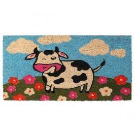 Rohožka Cow & Flowers 35x70 cm