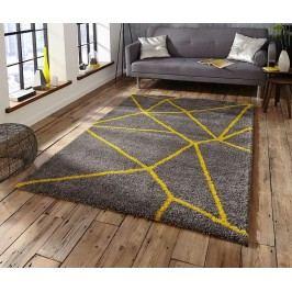 Koberec Nomadic Grey Yellow 120x170 cm