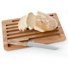 Sada prkénko a nůž na chléb Brown