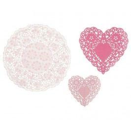 Sada 30 dekoračních ubrousků Doily Pink Mix