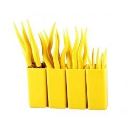 Sada příborů, 24 dílů a 4 stojany Tullio Yellow