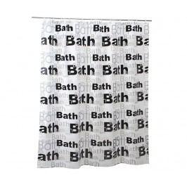 Sprchový závěs Bath Letters 180x200 cm