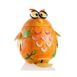 Odpadkový koš s víkem a pedálem Funny Owl 19 L