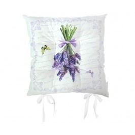Polštář na sezení Butterfly & Lavender 37x37 cm