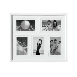 Rám na 5 fotografií Simple White