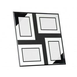 Rám na 4 fotografie Mirrored Black Four