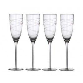 Sada 4 sklenic na šampaňské Spirals 150 ml